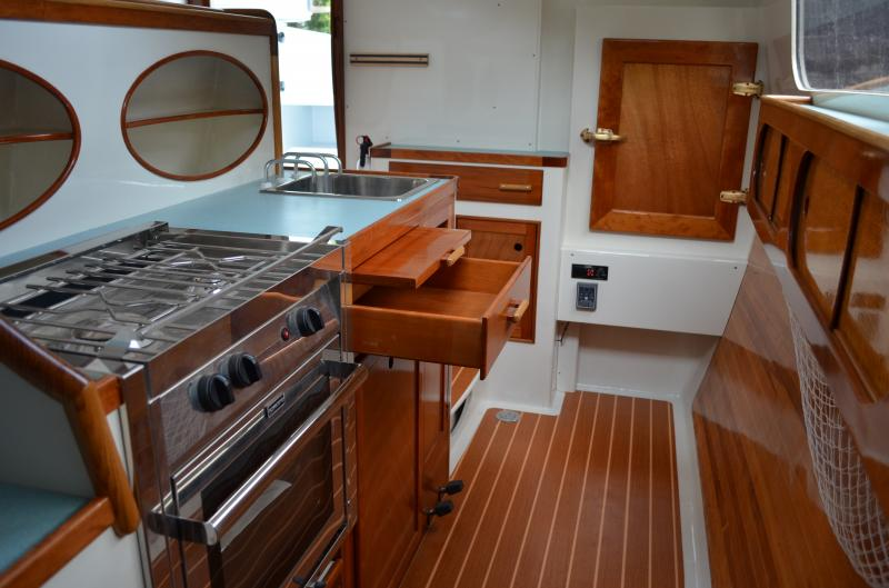 Joest Boats interior craftsmanship of 2016 Mast Foil 41 Catamaran