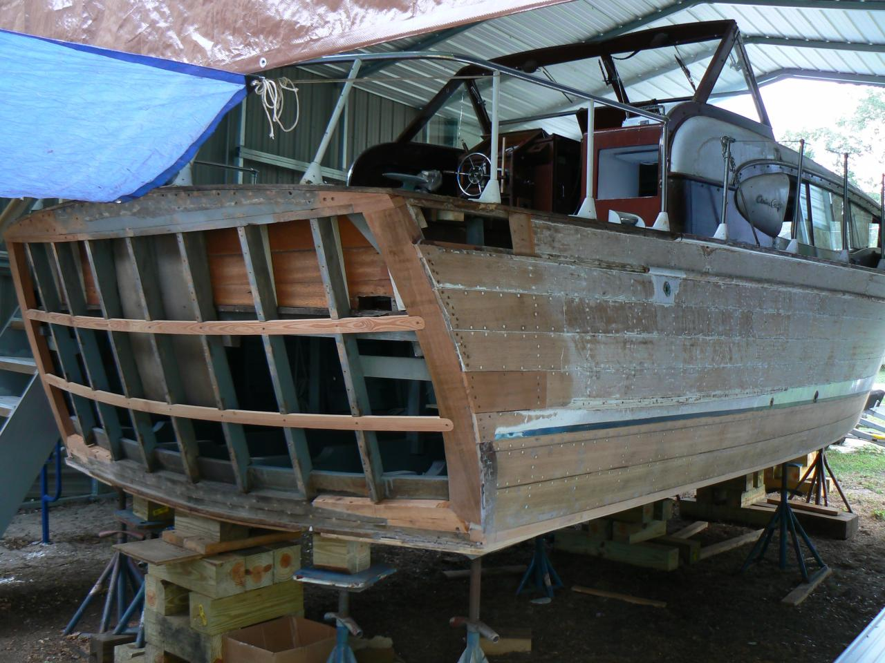 Joest boats wood boat repair for Chris craft boat restoration